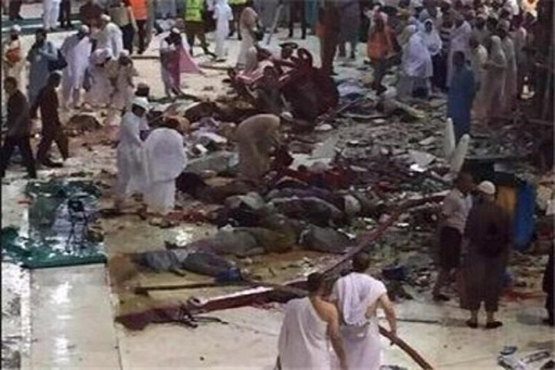۸۷ نفر در حادثه سقوط جرثقیل در مسجد الحرام مکه جان سپردند+عکس و فیلم