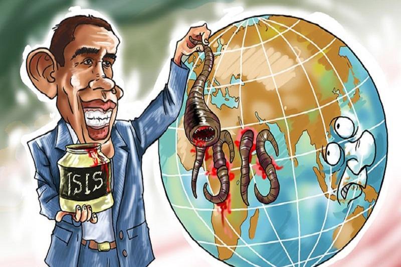 کاریکاتور: آمریکا مسول پیدایش داعش