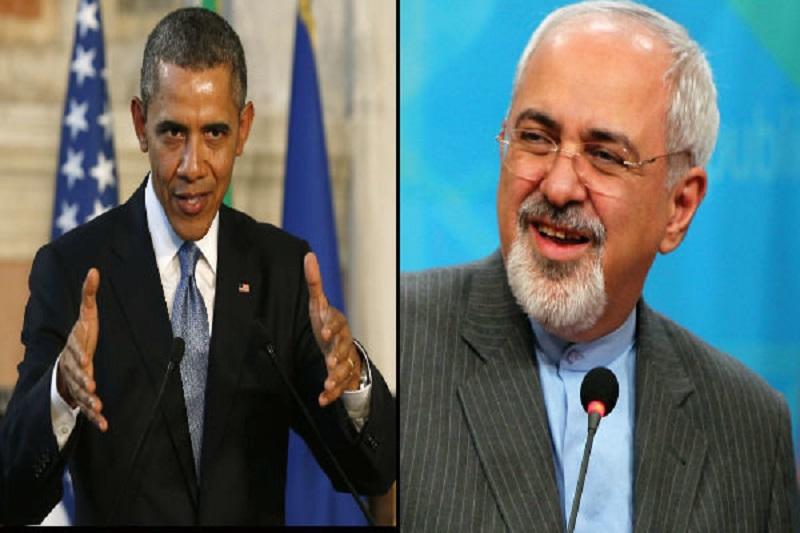 اوباما برای بهبود رابطه آمریکا-ایران با ظریف دست داد!