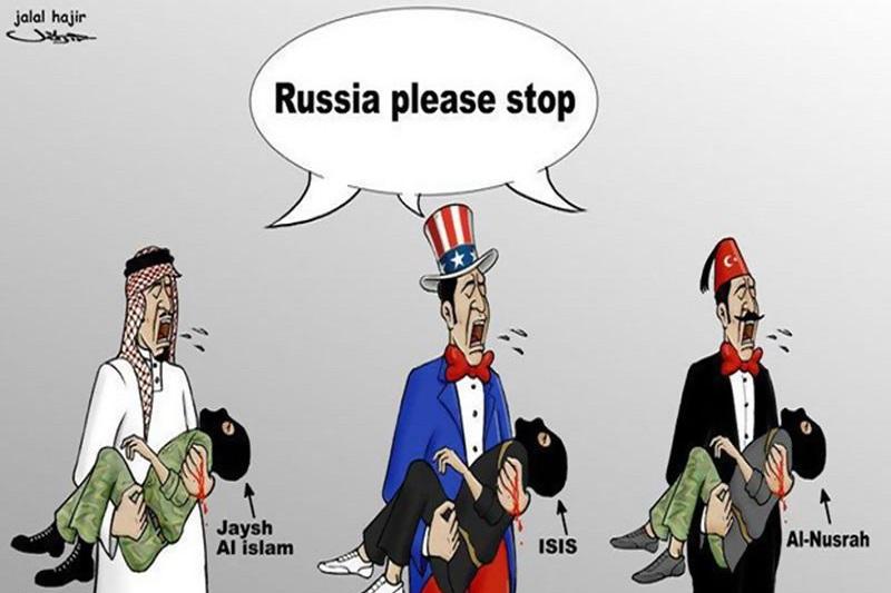 کاریکاتور: پدرخواندههای تروریسم جهانی!!!