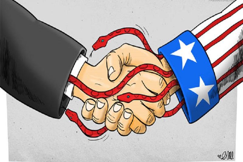 کاریکاتور: نفوذ آمریکایی