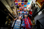 Umbrella alley in shiraz