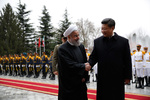 President Rouhani welcomes Chinese counterpart
