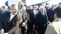 President Rouhani arrives in Rome
