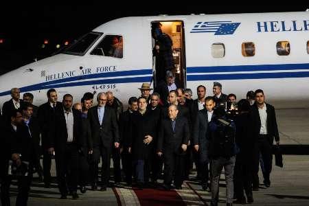 Greek prime minister arrives Iran