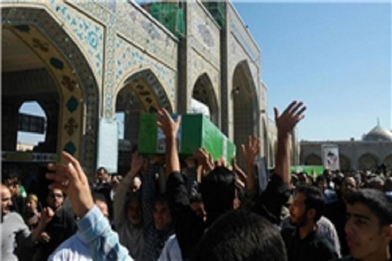 پیکر سردار شهید قاجاریان در مشهد تشییع شد