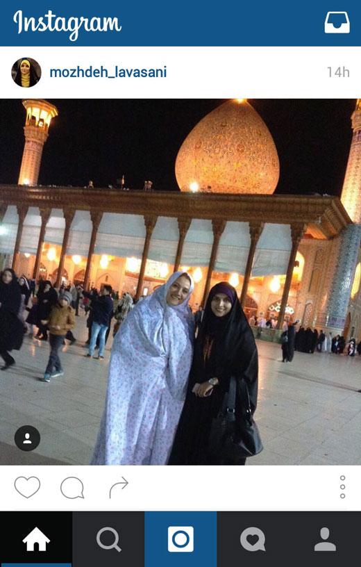 حضور مجری تلویزیون در کاظمین +عکس