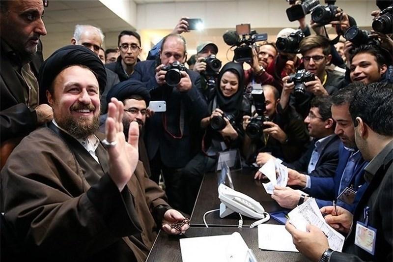 حجتالاسلام سیدحسن خمینی رای خود را به صندوق انداخت