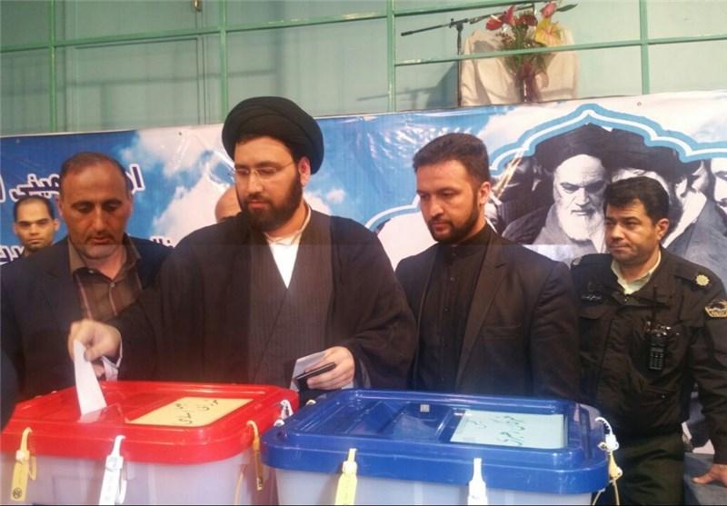 حجتالاسلام سیدعلی خمینی در انتخابات شرکت کرد