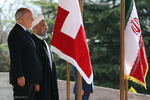 Rouhani officially welcomes Swiss counterpart