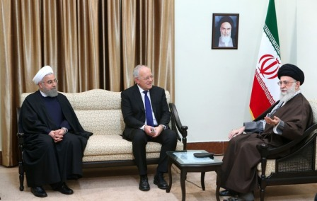 Supreme Leader receives Swiss President