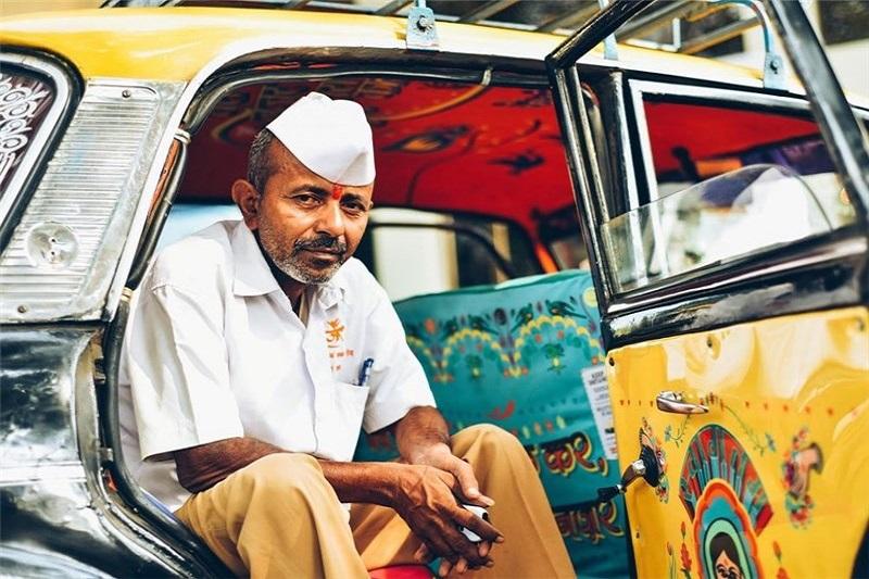 عکس:تاکسیهای رنگارنگ در هند
