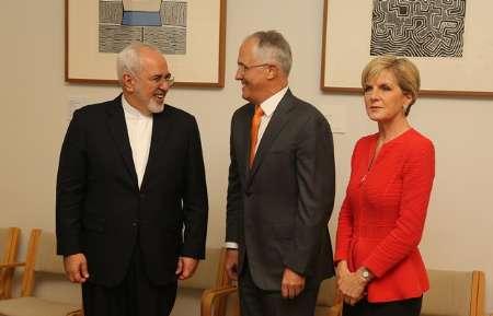 Zarif, Australia PM meeting