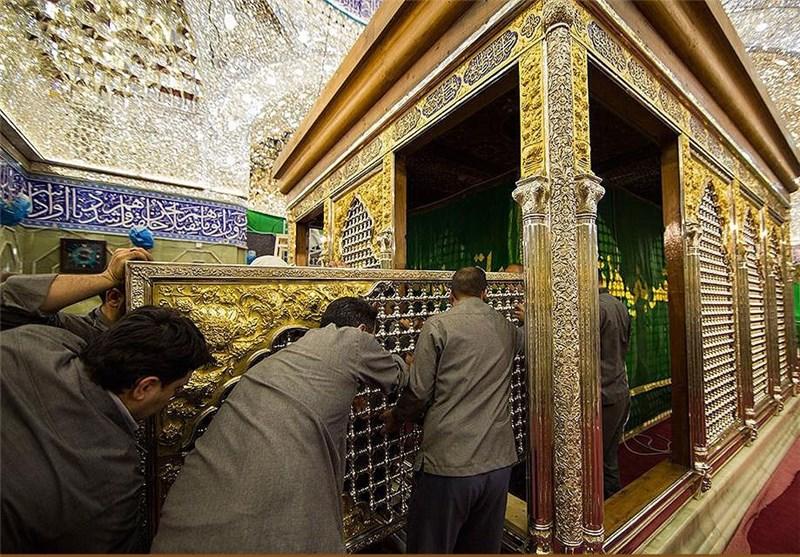 آخرین پنجرههای ضریح حضرت عباس(ع) نصب شد+عکس