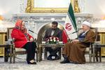 Rafsanjani, Estonian FM meet in Tehran