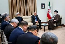 Leader receives Kazakh pres.