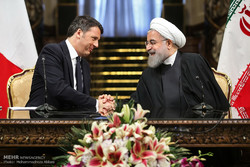 Rouhani hails Italian role in nuclear deal