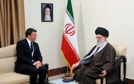 Leader says Iran holds optimistic view of Italy