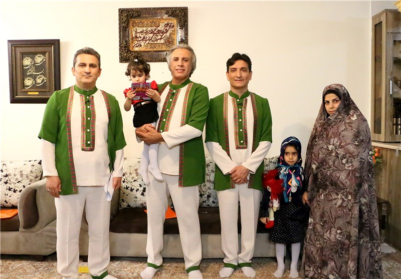 اشک شوق «عموهای فیتیلهای» در دیدار با فرزندان شهید مدافع حرم+عکس
