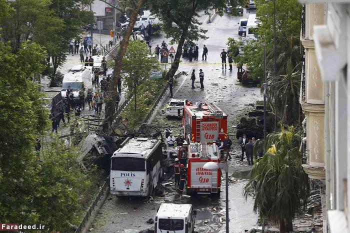 عکس:انفجار تروریستی در استانبول
