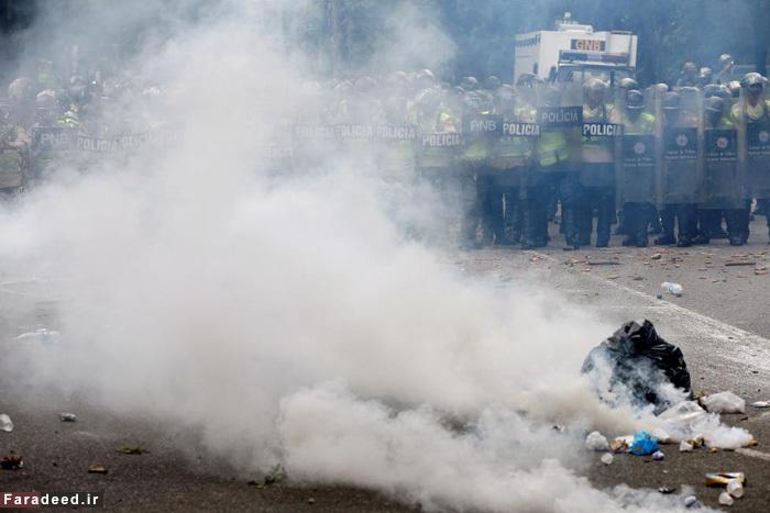 عکس:شورش مردم گرسنه در ونزوئلا