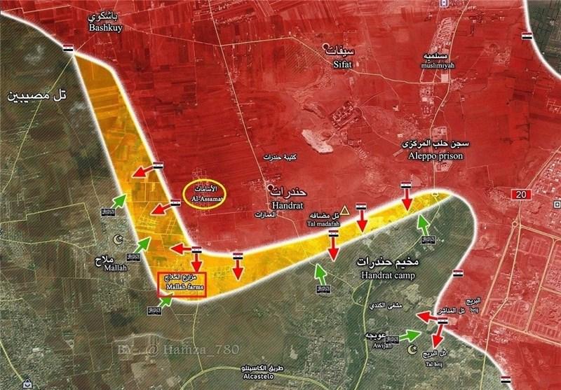 اهمیت آزادسازی مزارع الملاح در حومه شمالی حلب چیست؟