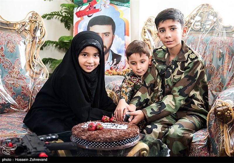 دلنوشته دختر خردسال شهید مدافع حرم در جشن تولد پدر