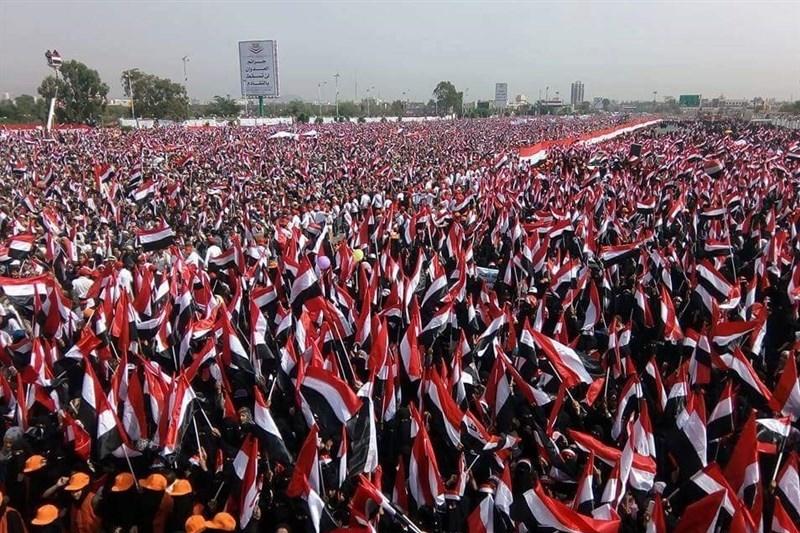 عکس: تجمع میلیونی یمنیها در صنعاء
