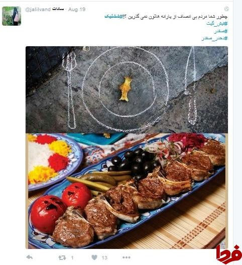 واکنش فضای مجازی به شیشلیک خوری مدیر دولت روحانی