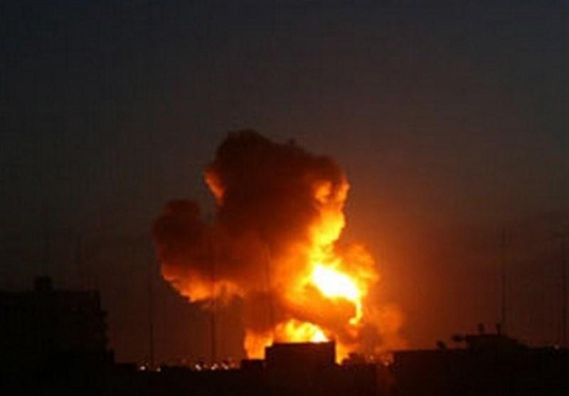جنگندههای رژیم صهیونیستی مناطقی از نوار غزه را بمباران کردند