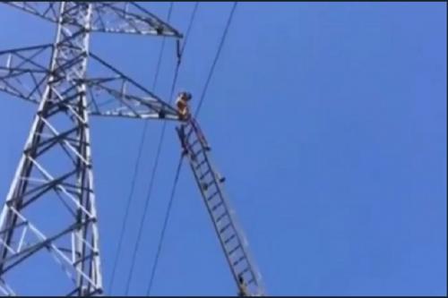 فیلم: خودکشی از بالای دکل برق (16+)