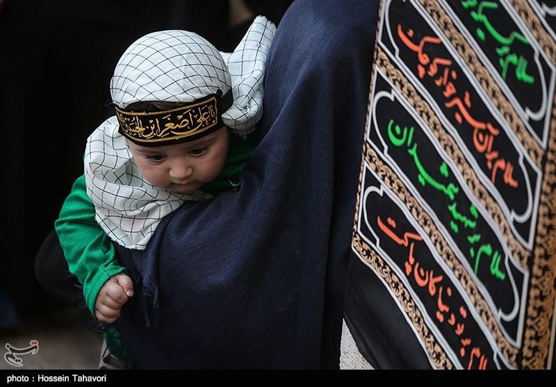 وقتی که حضرت علیاصغر(ع) شفیع مادر سوری شد+عکس