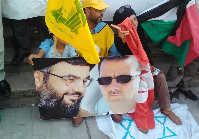 تجمع تونسیها در حمایت از سوریه و حزب الله/افشاگری بیسابقه عضو تیم« الدابی»+تصاویر