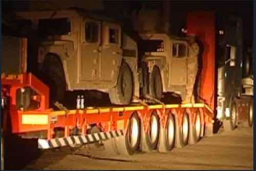فیلم/ انتقال نیرو و تجهیزات نظامی به موصل