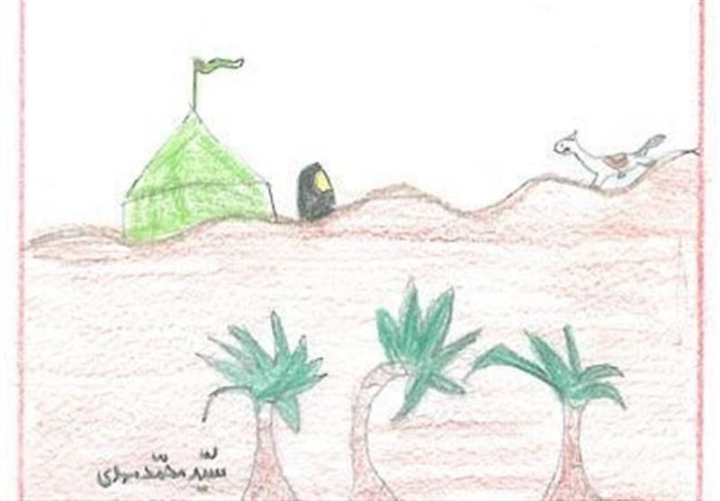 زبان حال رقیه (س) در قاب نقاشیهای کودکانه «سیدمحمد مهدی» + تصویر