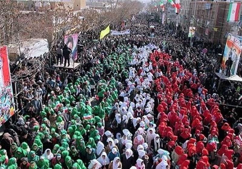 حضور انقلابی البرزنشینان در راهپیمایی ۱۳ آبان+ تصاویر