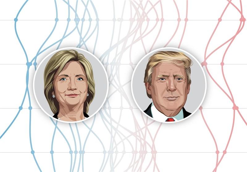 ادامه رقابت تنگاتنگ ترامپ و کلینتون در بازه ۳ روزه قبل از انتخابات