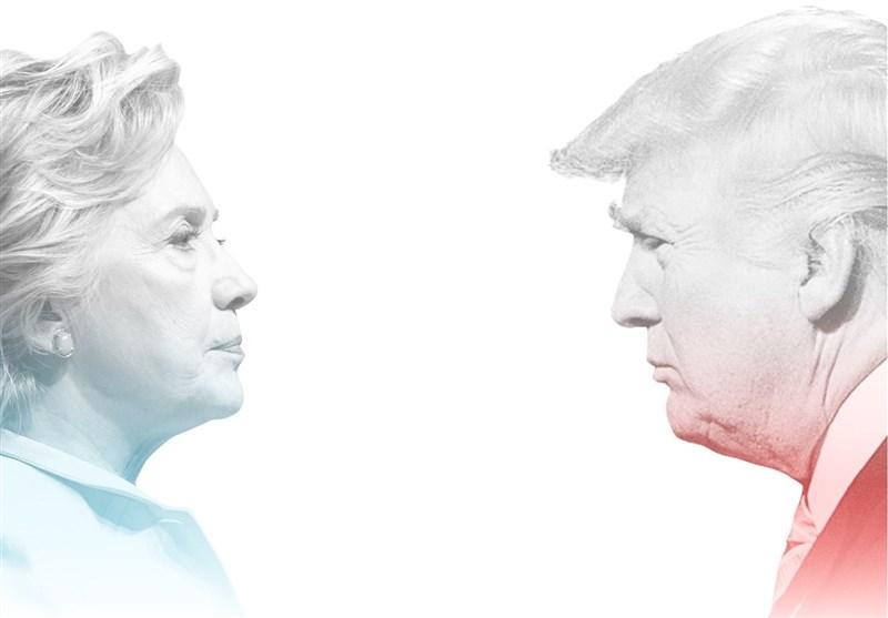 آیا ترامپ از پس کلینتون بر میآید؟/ کاهش شدید اختلاف در دو سطح ملی و ایالتهای «خاکستری» + نمودار