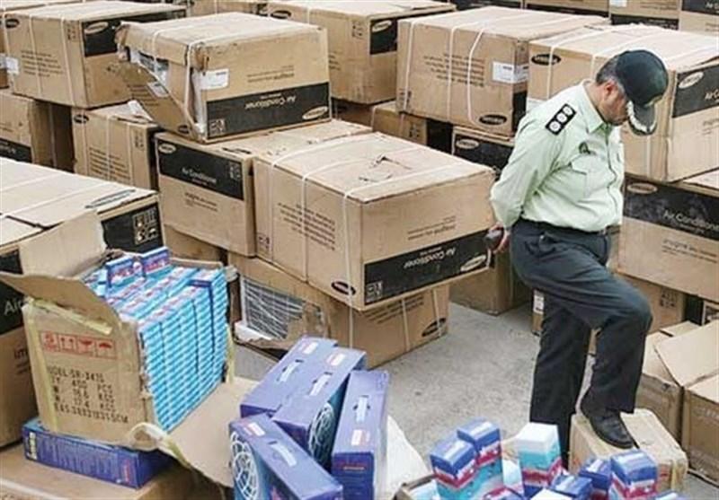 کشف بیش از ۳۰۰ میلیارد تومان کالای قاچاق در تهران