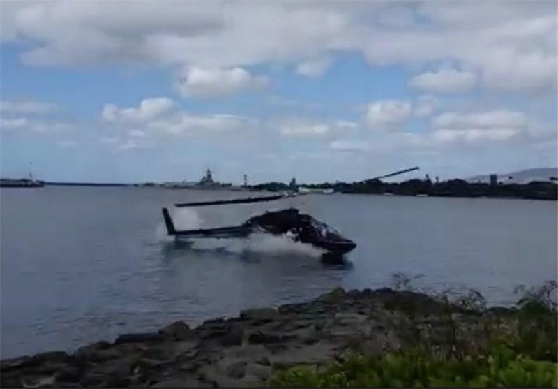 بالگرد شرکت نفت در دریای خزر سقوط کرد