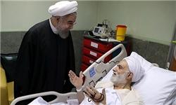رئیسجمهور از حجتالاسلام قرائتی عیادت کرد