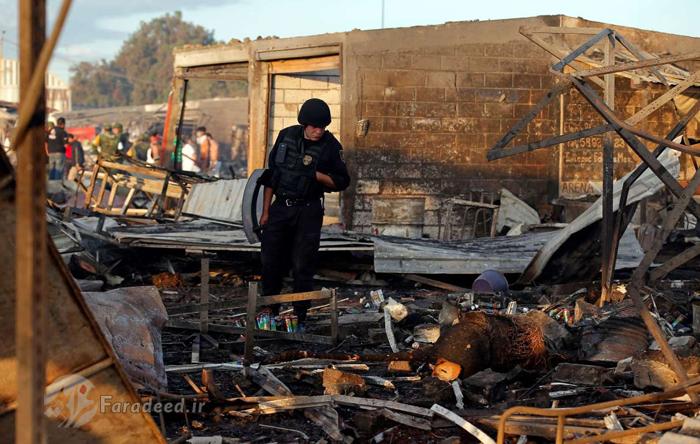 (تصاویر) انفجار در بازار مواد آتشزا در مکزیک