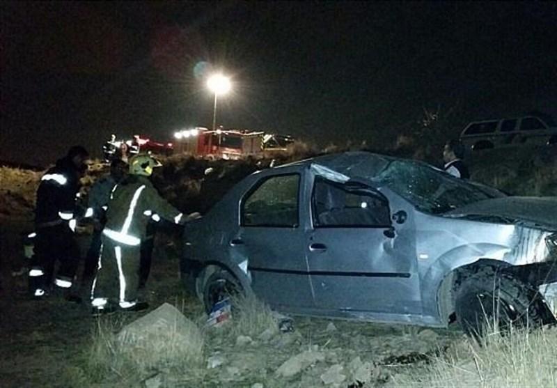 سقوط خودروی L۹۰ به درهای در شرق تهران + تصاویر