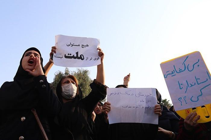 (تصاویر) تجمع اعتراضی در اهواز