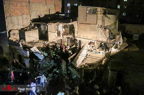 تصاویر/ انفجار لوله گاز در تهران
