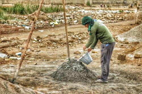 جوانان غیور خوزستانی هم قدم با گروههای جهادی +تصاویر