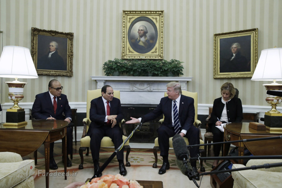 (تصاویر) دیدار ترامپ و السیسی در کاخسفید