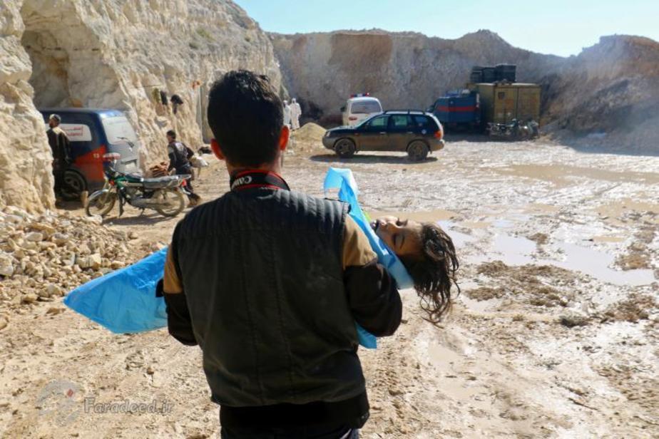 تصاویر/حمله شیمیایی در ادلب سوریه