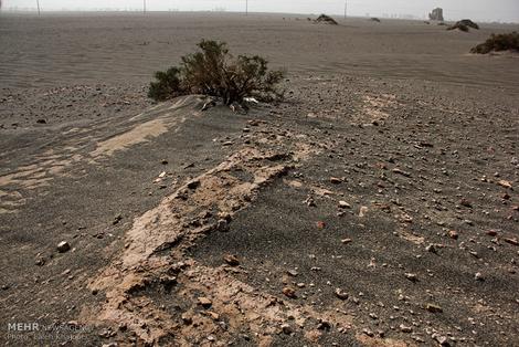 طوفان شن فهرج یک شهر باستانی را از زمین بیرون آورد