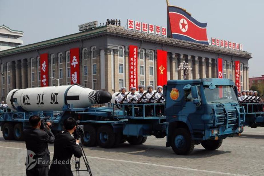تصاویر/ رونمایی کرهشمالی از موشک جدید